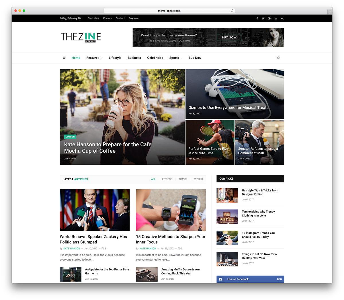 Top 5 mẫu website tin tức đẹp và sáng tạo 2020