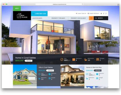 Top 9 mẫu website bất động sản đẹp nhất năm 2020