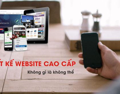 Thiết kế website cao cấp với giao diện đẹp và sang trọng
