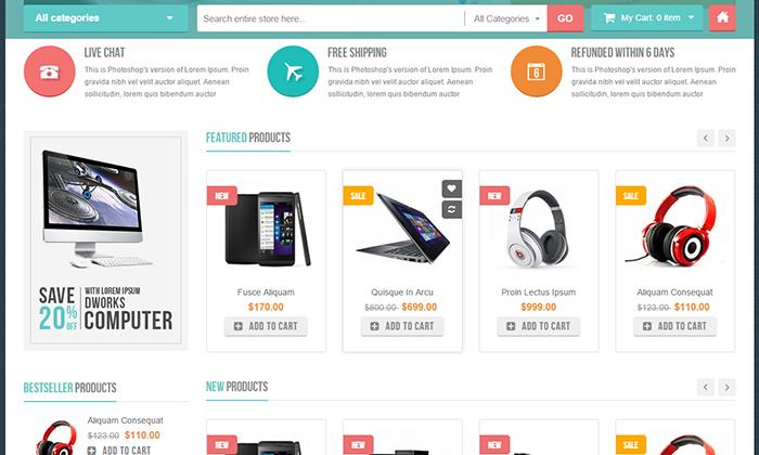 Thiết kế website bán điện thoại, laptop, linh kiện máy tính chuyên nghiệp