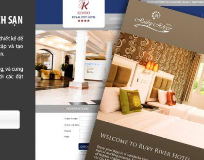 Dịch vụ thiết kế website khách sạn đẹp và chuyên nghiệp