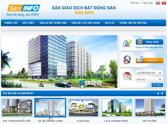 Dịch vụ thiết kế website bất động sản, nhà đất chuyên nghiệp