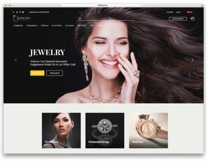 Top 6 mẫu website trang sức, vàng bạc đá quý đẹp và độc đáo