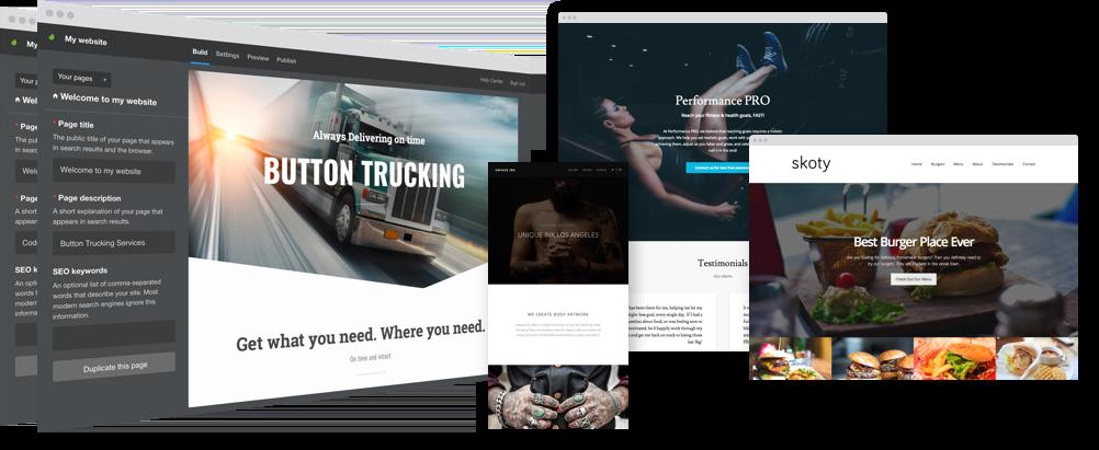 Hình ảnh một mẫu website giá rẻ được thiết kế chạy trên mọi nền tảng