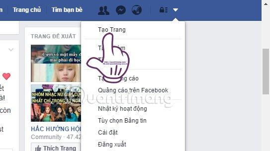 Facebook fanpage tao trang