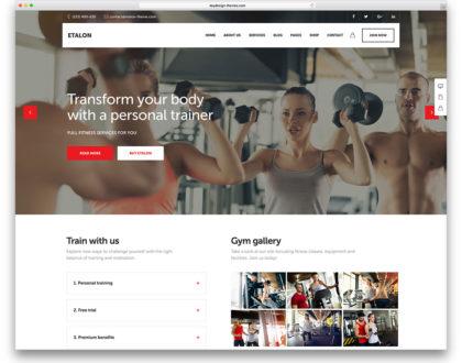 10 mẫu website trung tâm thể hình, CLB thể thao đẹp nhất