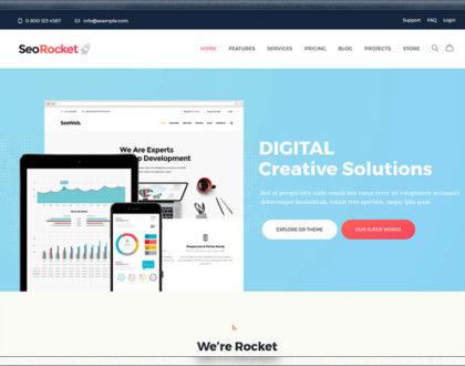 Top 10 mẫu website công ty dịch vụ SEO, Marketing đẹp, đầy đủ tính năng