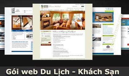 Thiết kế website du lịch khách sạn với bộ quản lý chuyên nghiệp