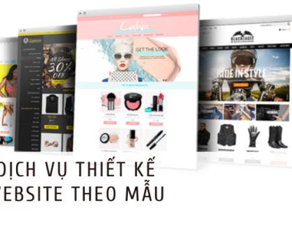 Dịch vụ thiết kế website theo mẫu chuyên nghiệp, uy tín
