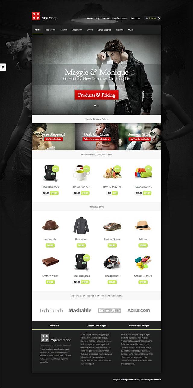 Mẫu website bán hàng thời trang styleshop