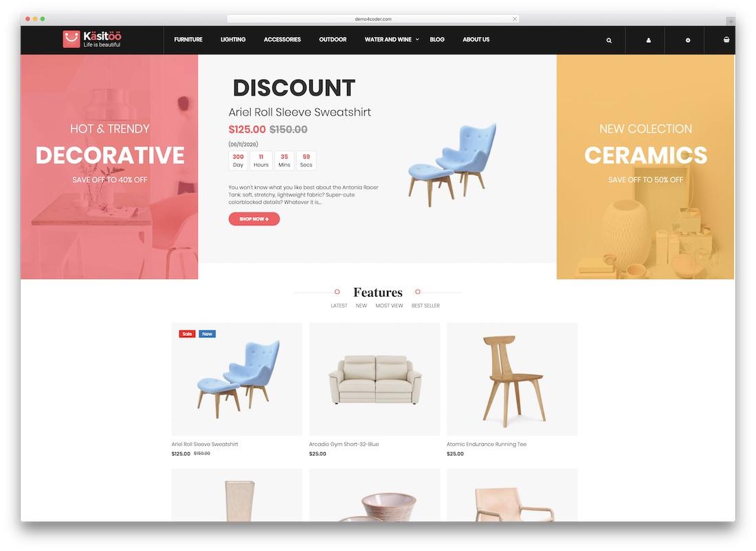 Top 10 mẫu website bán hàng Magento trực tuyến chuyên nghiệp và tiện ích 2019