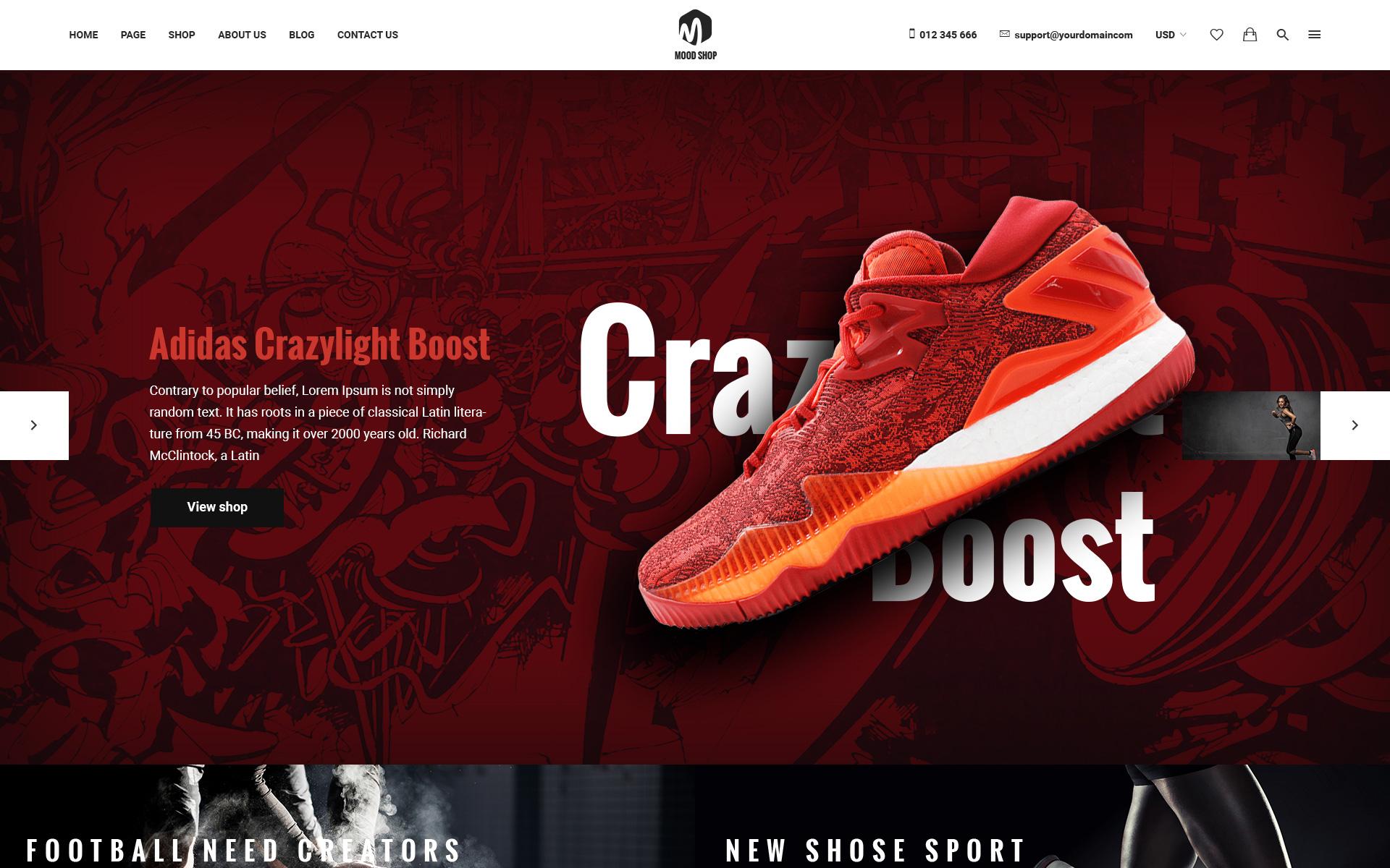 Dịch vụ thiết kế website bán giày dép thời trang đẹp và chuyên nghiệp