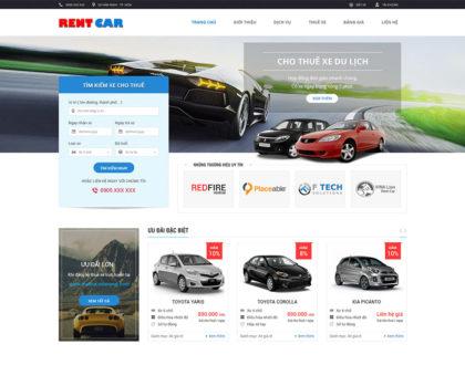 Thiết kế web cho thuê xe hiện đại, đầy đủ tính năng