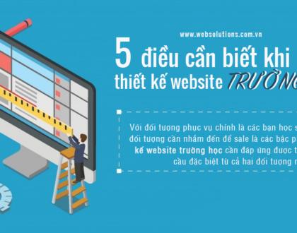 [INFOGRAPHIC] 5 điều cần biết khi thiết kế website trường học