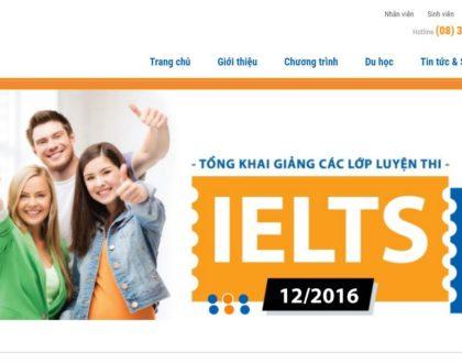 Dịch vụ thiết kế website học tiếng Anh chuyên nghiệp