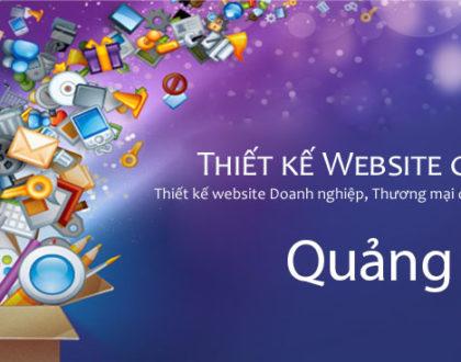 Thiết kế website tại Quảng Ngãi cao cấp, chất lượng