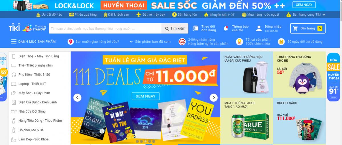 Top 10 trang web bán hàng lớn nhất Việt Nam